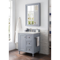 James Martin Copper Cove Encore (single) 30-Inch Silver Gray Vanity Cabinet & Optional Countertops