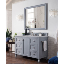 James Martin Copper Cove Encore (single) 48-Inch Silver Gray Vanity Cabinet & Optional Countertops