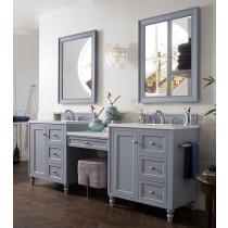 James Martin Copper Cove Encore (double) 86-Inch Silver Gray Vanity Cabinet & Optional Countertops