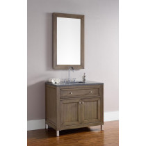 James Martin Chicago (single) 36-Inch White Washed Walnut Vanity Cabinet & Optional Countertops