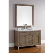 James Martin Chicago (single) 48-Inch White Washed Walnut Vanity Cabinet & Optional Countertops