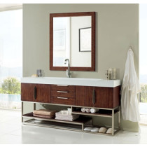 James Martin Columbia (single) 72.5-Inch Coffee Oak Modern Bathroom Vanity
