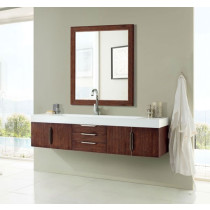 James Martin Mercer Island (single) 72.5-Inch Coffee Oak Modern Wall-Mount Bathroom Vanity