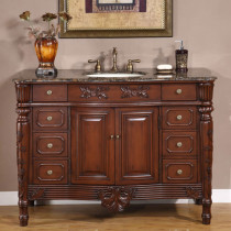 Brentwood (single) 48.5-Inch Traditional Bathroom Vanity