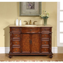 Bette (single) 48-Inch Traditional Walnut Bathroom Vanity