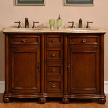 Hera (double) 52-inch Traditional Bathroom Vanity with Countertop Options
