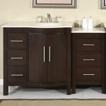 Crema Marfil - Right Side Sink