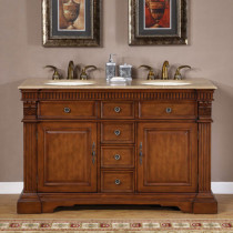 Helena (double) 55-inch Traditional Bathroom Vanity