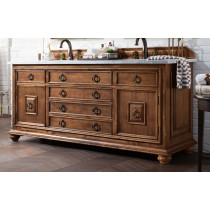 James Martin Mykonos (double) 72-Inch Cinnamon Vanity Cabinet & Optional Countertops