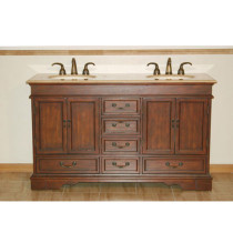 Dosia (double) 60-inch Traditional Bathroom Vanity