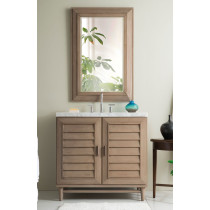 James Martin Portland (single) 36-Inch White Washed Walnut Vanity Cabinet & Optional Countertops