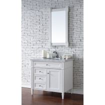 James Martin Brittany (single) 36-Inch Cottage White Vanity Cabinet & Optional Countertops