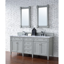 James Martin Brittany (double) 72-Inch Urban Gray Vanity Cabinet & Optional Countertops