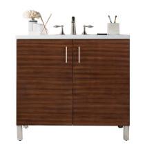 James Martin Metropolitan (single) 36-Inch American Walnut Vanity Cabinet & Optional Countertops