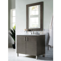 James Martin Metropolitan (single) 36-Inch Silver Oak Vanity Cabinet & Optional Countertops