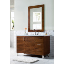 James Martin Metropolitan (single) 48-Inch American Walnut Vanity Cabinet & Optional Countertops