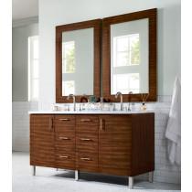 James Martin Metropolitan (double) 60-Inch American Walnut Vanity Cabinet & Optional Countertops