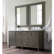 James Martin Metropolitan (double) 60-Inch Silver Oak Vanity Cabinet & Optional Countertops