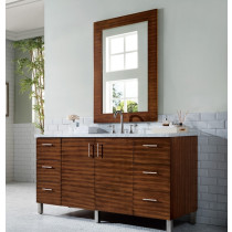 James Martin Metropolitan (single) 60-Inch American Walnut Vanity Cabinet & Optional Countertops