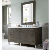 James Martin Metropolitan (single) 60-Inch Silver Oak Vanity Cabinet & Optional Countertops
