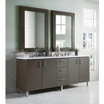 James Martin Metropolitan (double) 72-Inch Silver Oak Vanity Cabinet & Optional Countertops