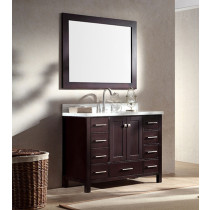 Ariel Cambridge (single) 43-Inch Espresso Modern Bathroom Vanity Set