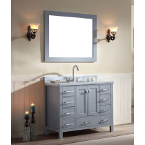 Ariel Cambridge (single) 43-Inch Grey Modern Bathroom Vanity Set