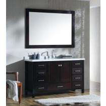Ariel Cambridge (single) 55-Inch Espresso Modern Bathroom Vanity Set with Oval Sink