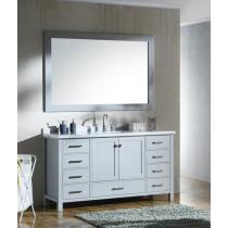 Ariel Cambridge (single) 61-Inch Grey Modern Bathroom Vanity Set with Rectangular Sink
