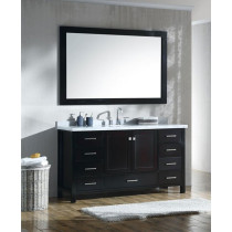 Ariel Cambridge (single) 61-Inch Espresso Modern Bathroom Vanity Set with Oval Sink