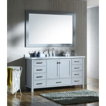 Ariel Cambridge (single) 61-Inch Grey Modern Bathroom Vanity Set with Oval Sink