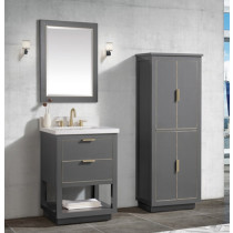 Avanity Allie (single) 25-Inch Twilight Gray Gold Vanity Cabinet & Optional Countertops