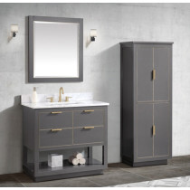 Avanity Allie (single) 37-Inch Twilight Gray Gold Vanity Cabinet & Optional Countertops