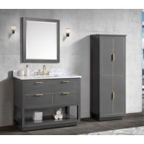 Avanity Allie (single) 43-Inch Twilight Gray Gold Vanity Cabinet & Optional Countertops