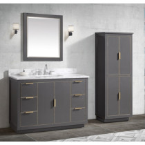 Avanity Austen (single) 49-Inch Twilight Gray Gold Vanity Cabinet & Optional Countertops