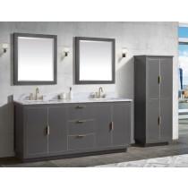 Avanity Austen (double) 73-Inch Twilight Gray Gold Vanity Cabinet & Optional Countertops