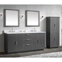 Avanity Austen (double) 73-Inch Twilight Gray Brushed Silver Vanity Cabinet & Optional Countertops