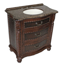 Lymon (single) 32-Inch Antique Brown Bathroom Vanity