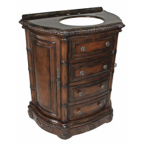 Clover (single) 33-inch Antique Dark Walnut Traditional Bathroom Vanity