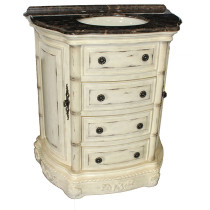 Clover (single) 33-inch Antique Parchment Traditional Bathroom Vanity