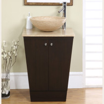 Beck (single) 22-Inch Espresso Pedestal Bathroom Vanity