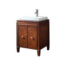 Avanity Brentwood (single) 25-Inch New Walnut Vanity Cabinet & Optional Countertop