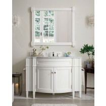 James Martin Brittany (single) 46.5-Inch Cottage White Vanity Cabinet & Optional Countertops