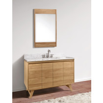 Avanity Coventry (single) 49-Inch Natural Teak Vanity Cabinet & Optional Countertops