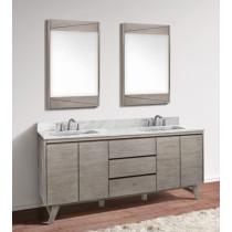 Avanity Coventry (double) 73-Inch Gray Teak Vanity Cabinet & Optional Countertops