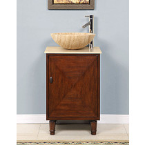 Curtis (single) 20-Inch Vessel-Mount Pedestal Bathroom Vanity