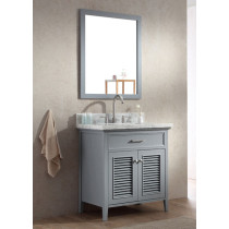 Ariel Kensington (single) 31-Inch Grey Transitional Bathroom Vanity Set