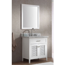 Ariel Kensington (single) 31-Inch White Transitional Bathroom Vanity Set