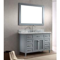 Ariel Kensington (single) 49-Inch Grey Transitional Bathroom Vanity Set