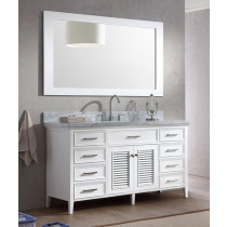 Ariel Kensington (single) 61-Inch White Transitional Bathroom Vanity Set